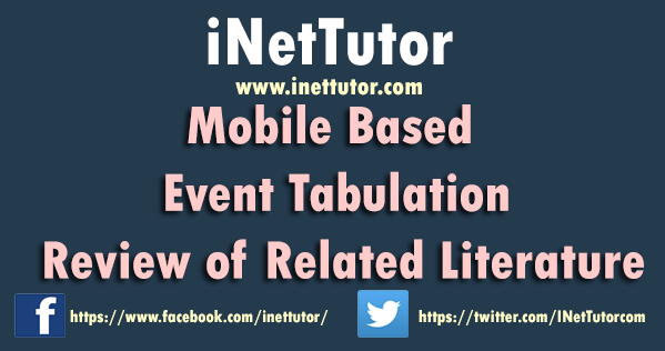 Mobile Based Event Tabulation Review of Related Literature