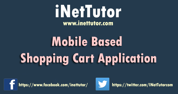 Mobile Based Shopping Cart Application