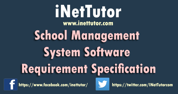 School Management System Software Requirement Specification