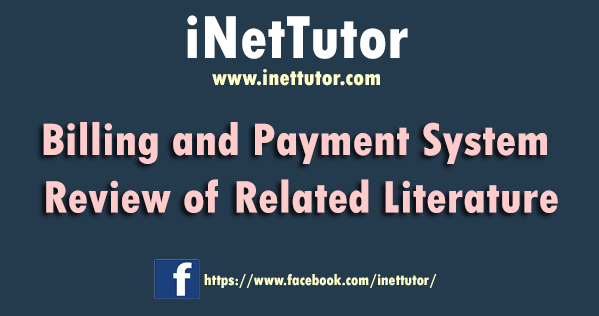 Billing and Payment System Review of Related Literature