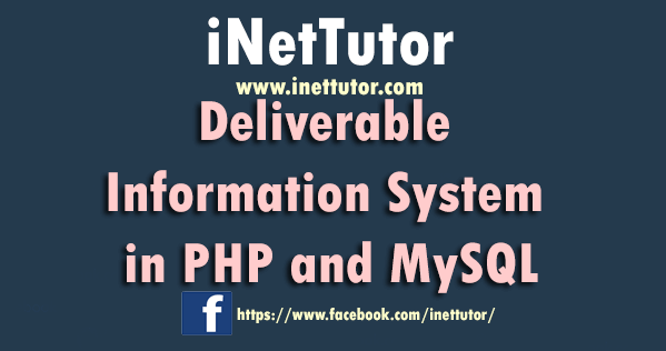 Deliverable Information System in PHP and MySQL