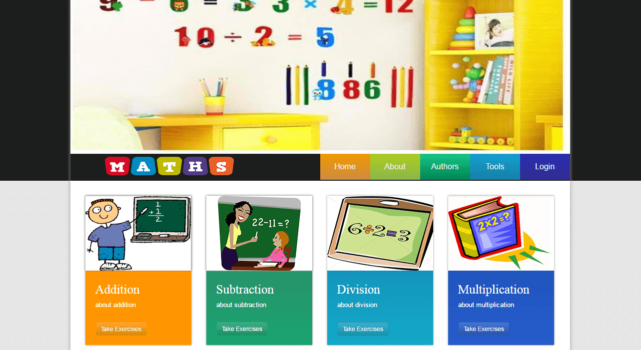 ELearning System for Math Home Page