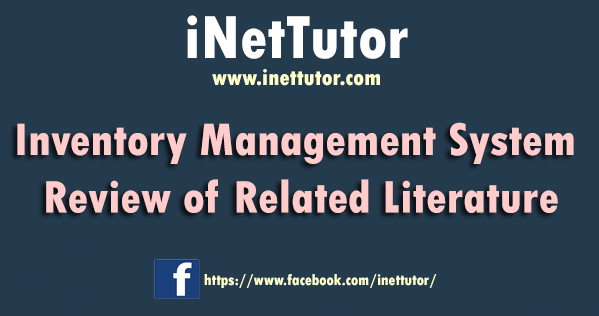 Inventory Management System Review of Related Literature