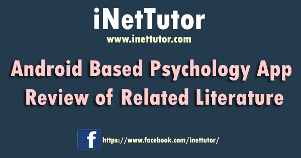 Android Based Psychology App Review of Related Literature