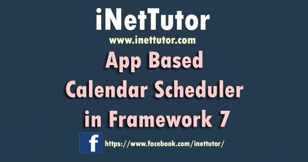 App Based Calendar Scheduler in Framework 7