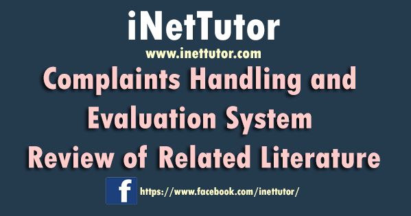 Complaints Handling and Evaluation System Review of Related Literature