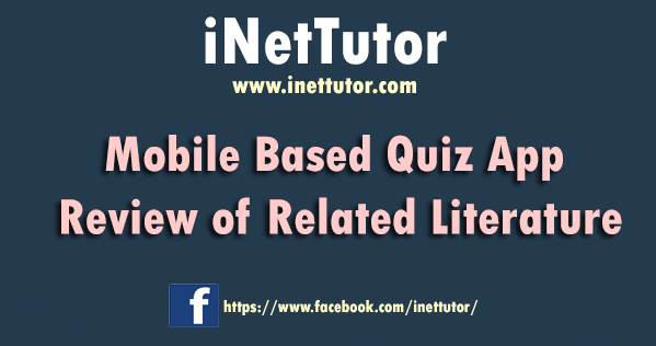 Mobile Based Quiz App Review of Related Literature