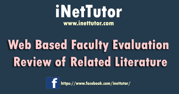 Web Based Faculty Evaluation Review of Related Literature