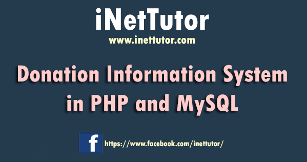 Donation Information System in PHP and MySQL