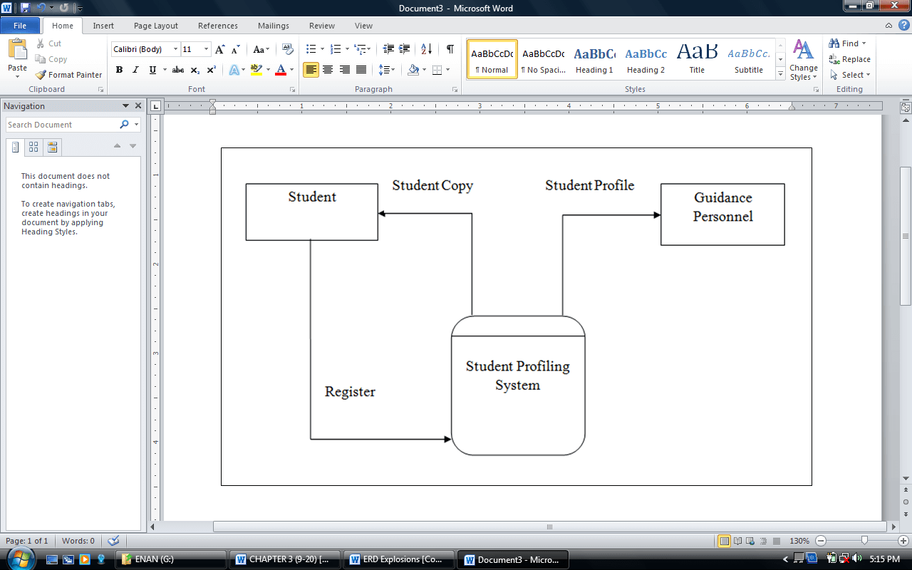 Guidance Student Profiling System Context Data Flow Diagram