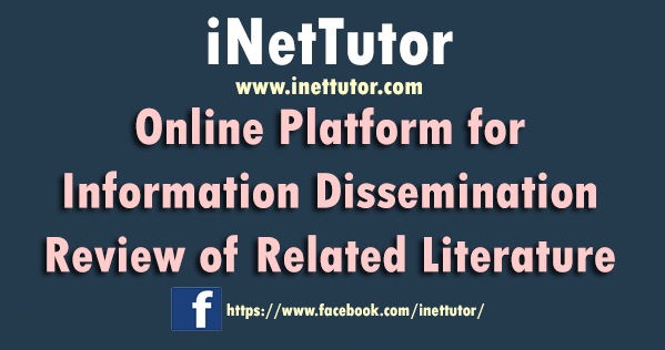 Online Platform for Information Dissemination Review of Related Literature