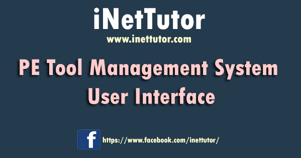 PE Tool Management System User Interface