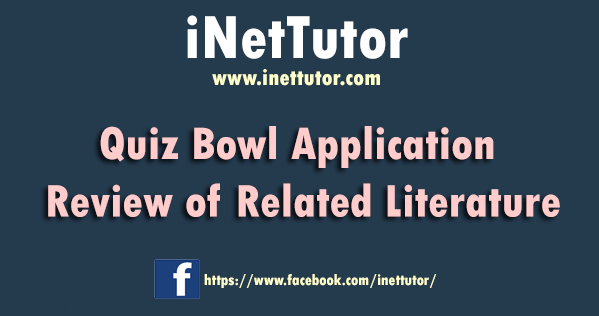 Quiz Bowl Application Review of Related Literature