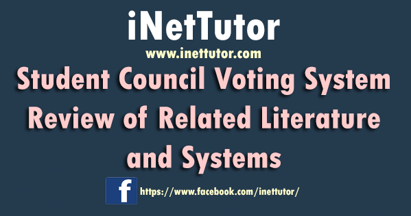 Student Council Voting System Review of Related Literature and Systems