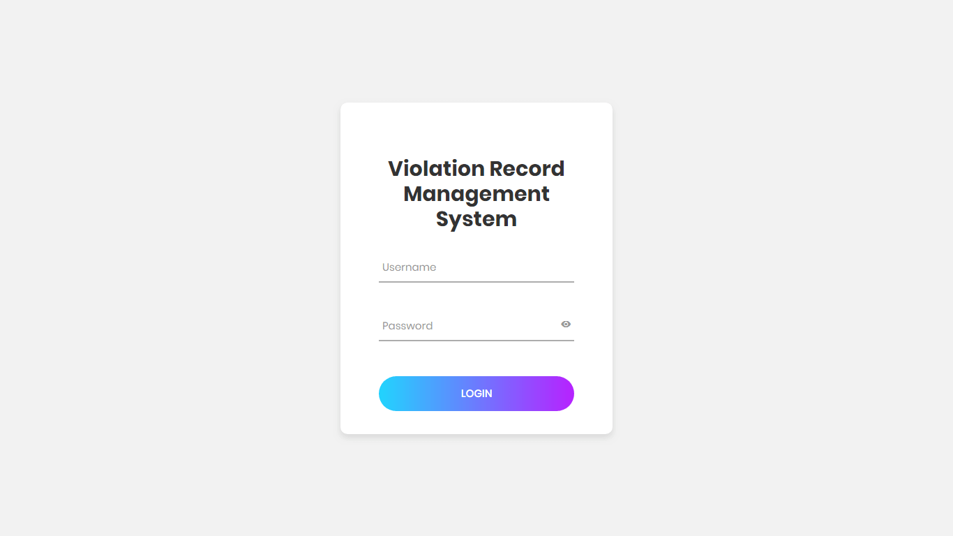 Violation Record Management System