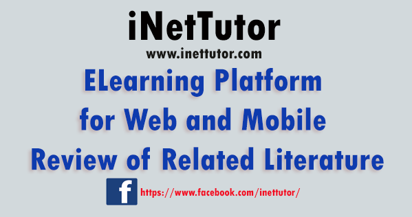 ELearning Platform for Web and Mobile Review of Related Literature