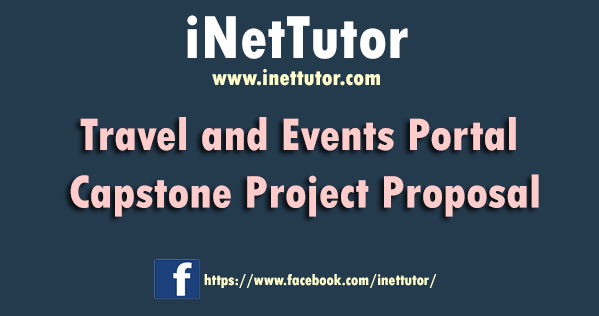Travel and Events Portal Capstone Project Proposal
