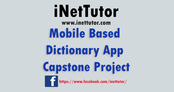 Mobile Based Dictionary App Capstone Project