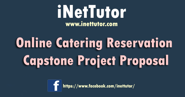 Online Catering Reservation Capstone Project Proposal