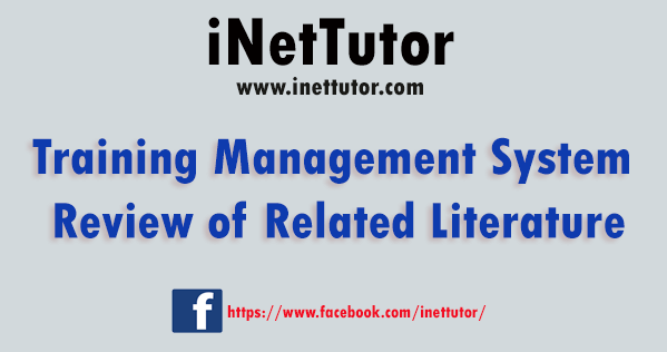Training Management System Review of Related Literature