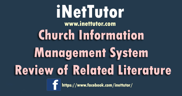 Church Information Management System Review of Related Literature
