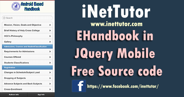 EHandbook in JQuery Mobile Free Source code