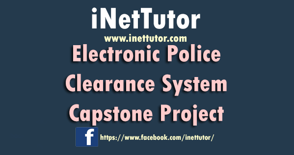 Electronic Police Clearance System Capstone Project