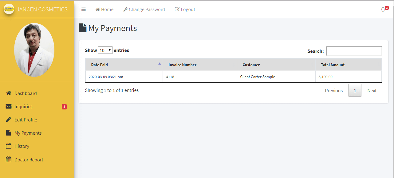 Appointment System Doctor Payment Monitoring