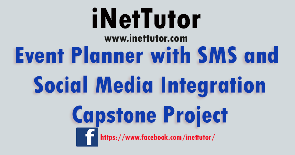 Event Planner with SMS and Social Media Integration Capstone Project