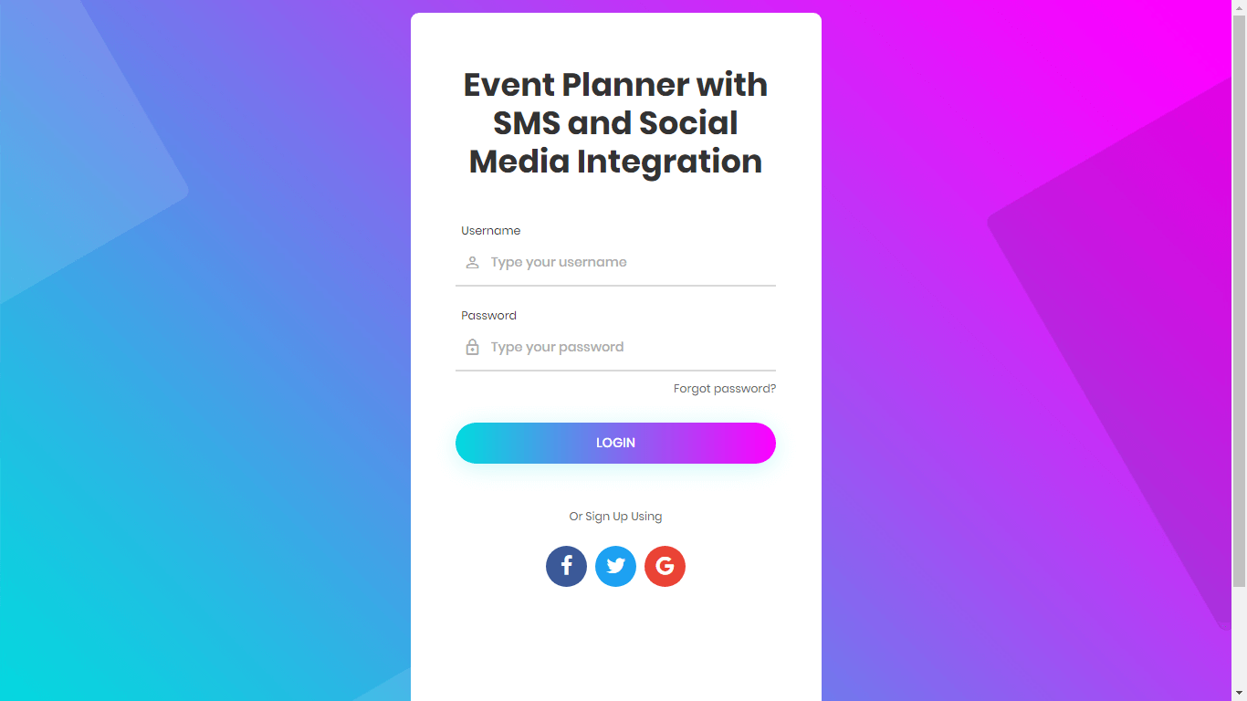 Event Planner with SMS and Social Media Integration
