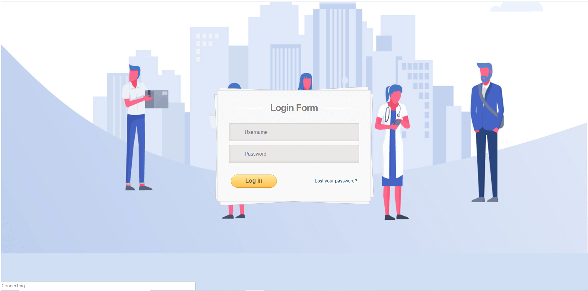 Job Portal System Login Form