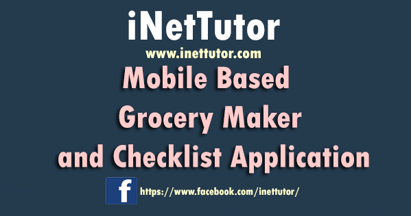 Mobile Based Grocery Maker and Checklist Application Capstone Project