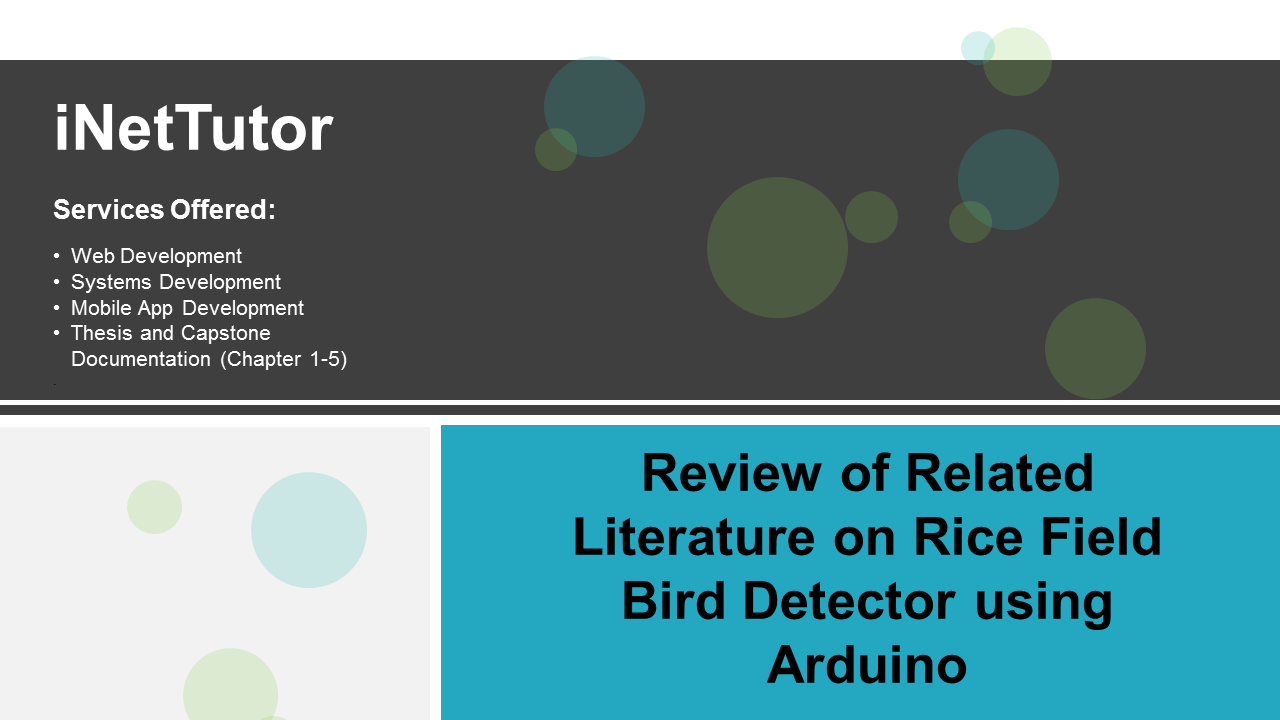 Review of Related Literature on Rice Field Bird Detector using Arduino