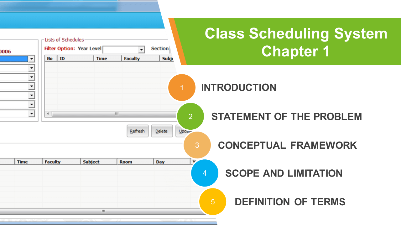 Class Scheduling System Chapter 1
