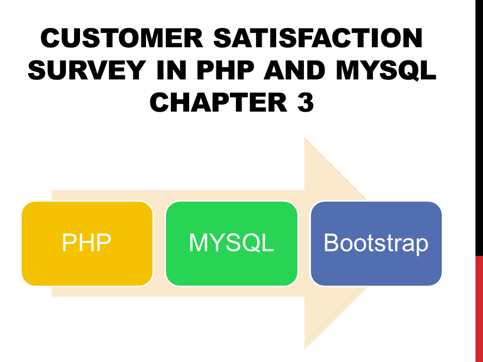Customer Satisfaction Survey in PHP and MySQL Chapter 3
