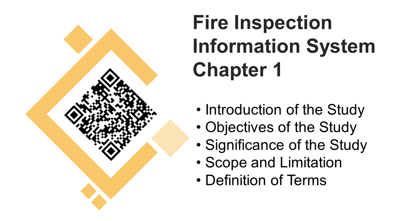 Fire Inspection Information System Chapter 1