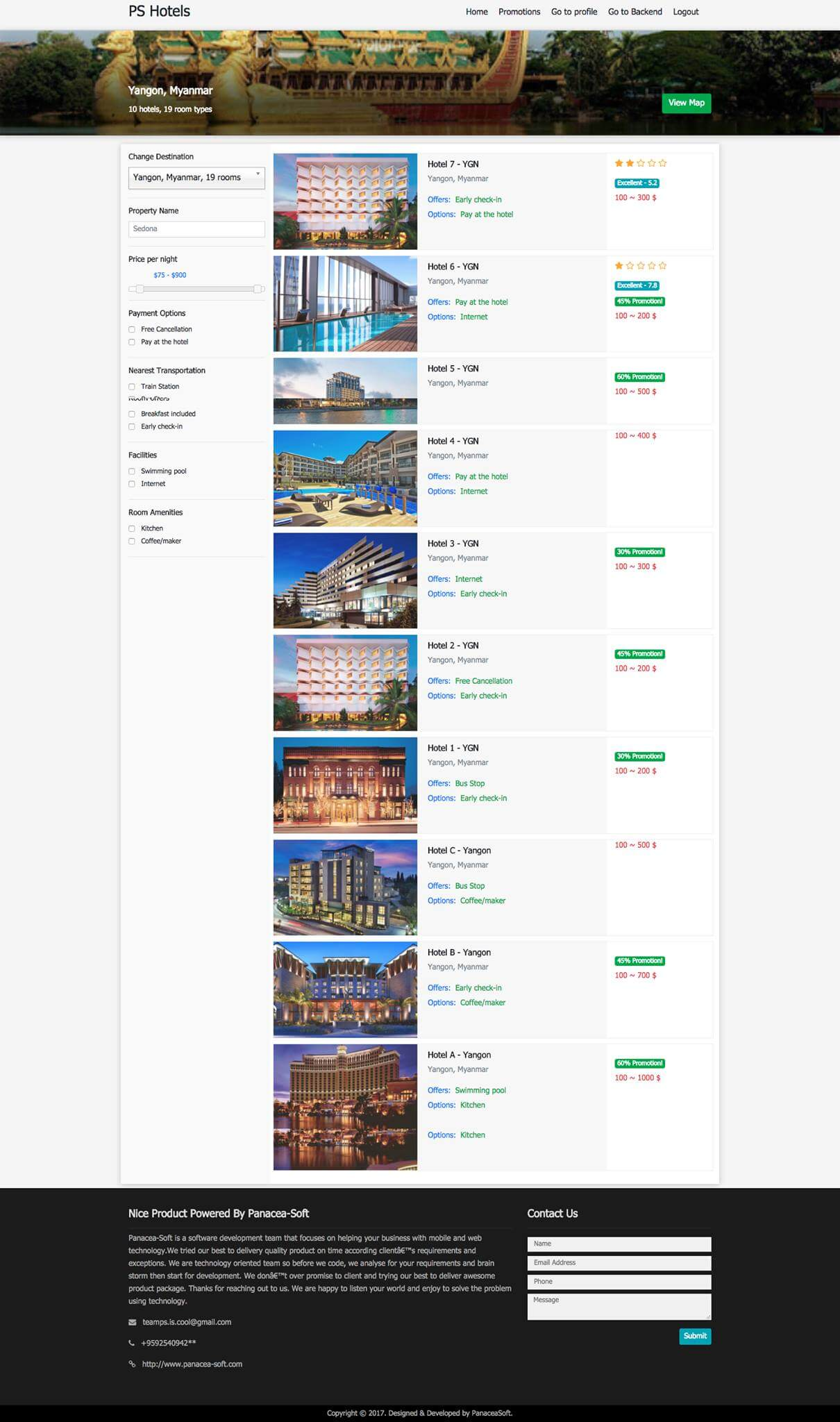 Multi Hotel Management System Hotel Search Module