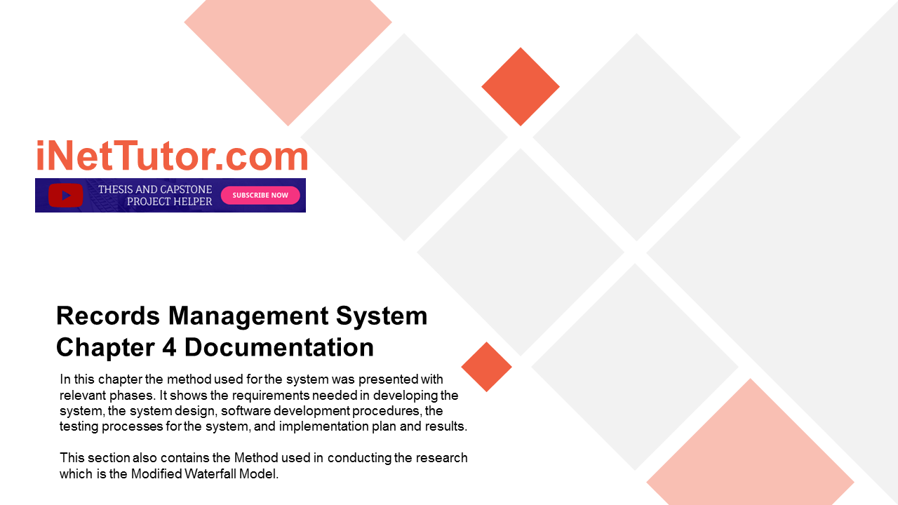 Records Management System Chapter 4 Documentation