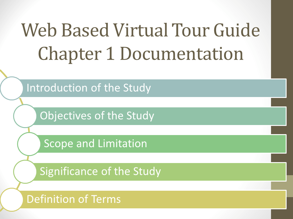 Web Based Virtual Tour Guide Chapter 1 Documentation