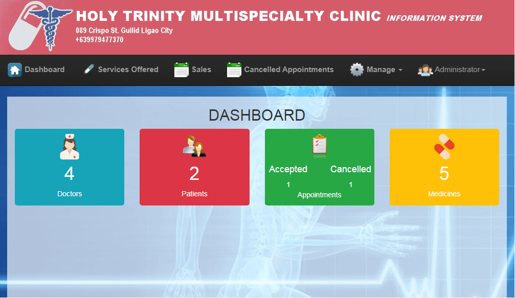Doctor Appointment System Dashboard
