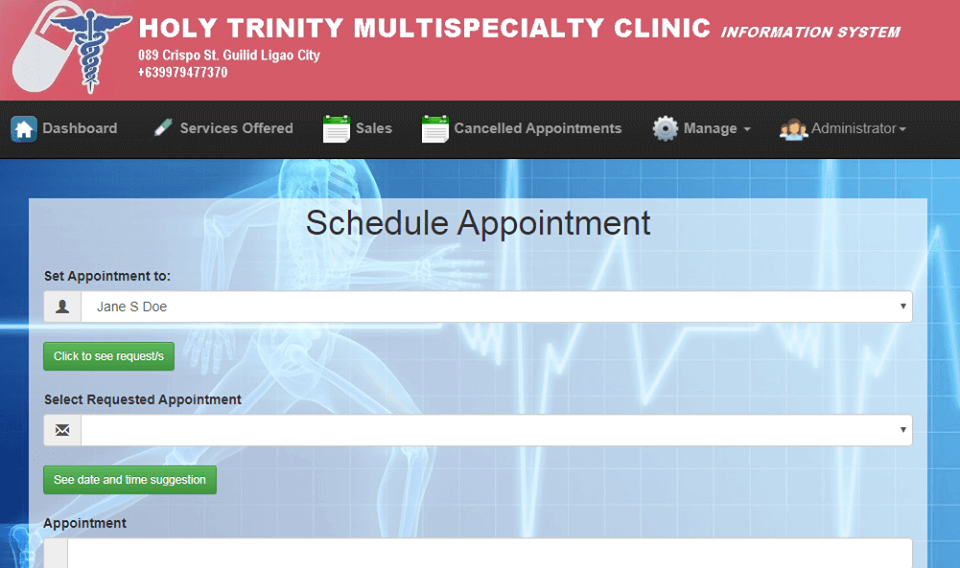 Doctor Appointment System Schedule Appointment