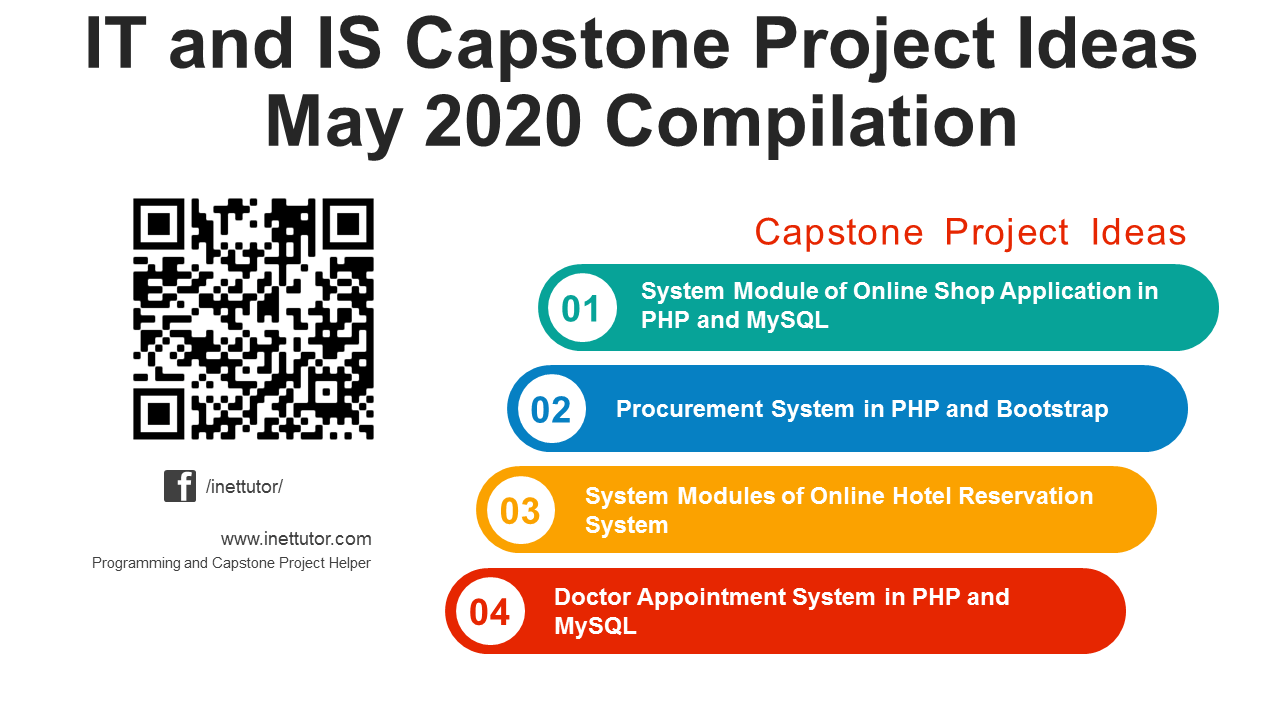 IT and IS Capstone Project Ideas May 2020 Compilation
