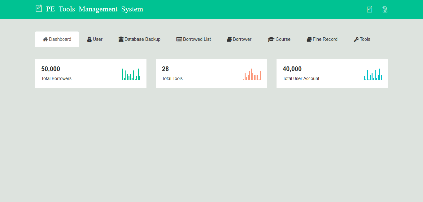 PE Tools Management System Dashboard