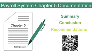 Payroll System Chapter 5 Documentation