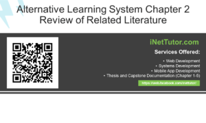 Alternative Learning System Chapter 2 Review of Related Literature