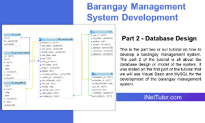 Barangay Management System Development Part 2 - Database Design