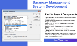 Barangay Management System Development Part 3 - Project Components