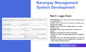 Barangay Management System Development Part 5 - Login Form