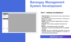Barangay Management System Development Part 7 - Sidebar and Statistics