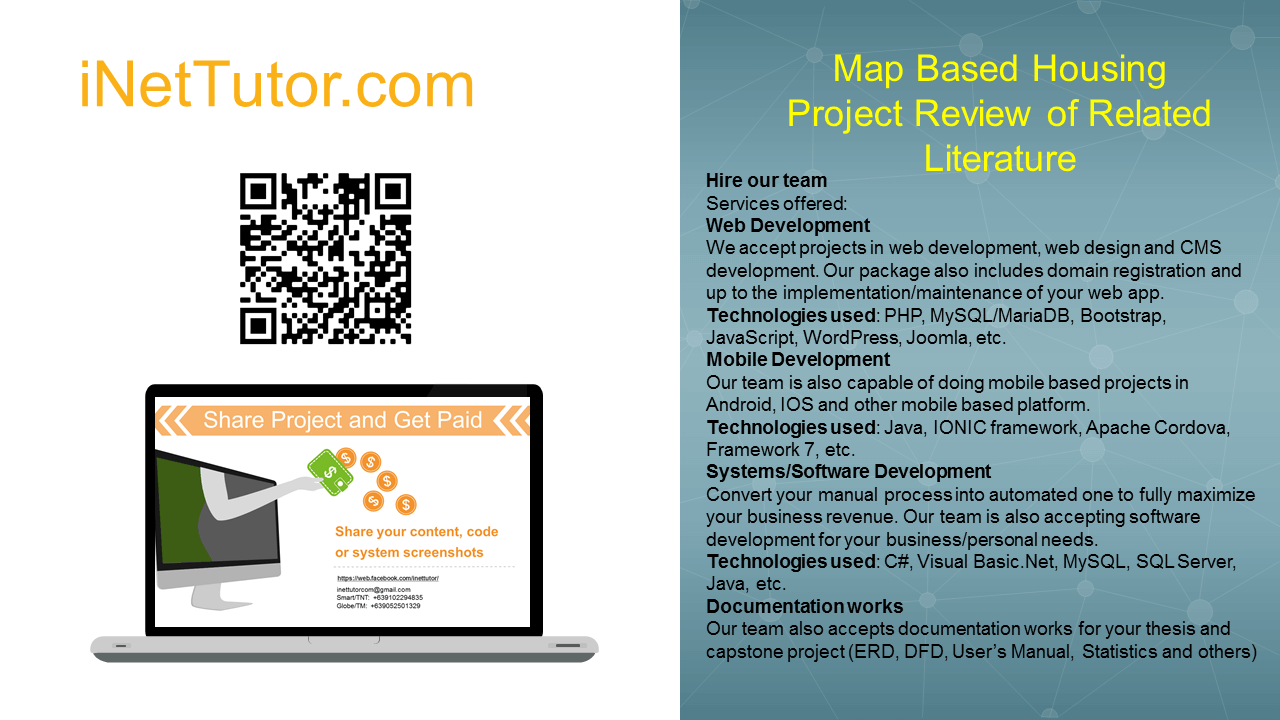Map Based Housing Project Review of Related Literature